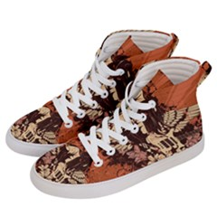 Rock Music Moves Me Women s Hi-top Skate Sneakers by Sapixe