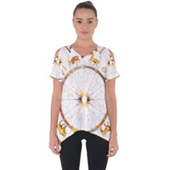 Zodiac  Institute Of Vedic Astrology Cut Out Side Drop Tee by Sapixe