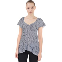Water Glass Pattern Drops Wet Lace Front Dolly Top