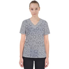 Water Glass Pattern Drops Wet Scrub Top