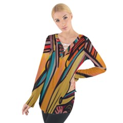 Vivid Colours Tie Up Tee by Sapixe
