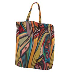 Vivid Colours Giant Grocery Zipper Tote
