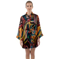 Vivid Colours Long Sleeve Kimono Robe
