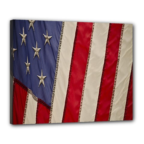 Usa Flag Canvas 20  X 16  by Sapixe