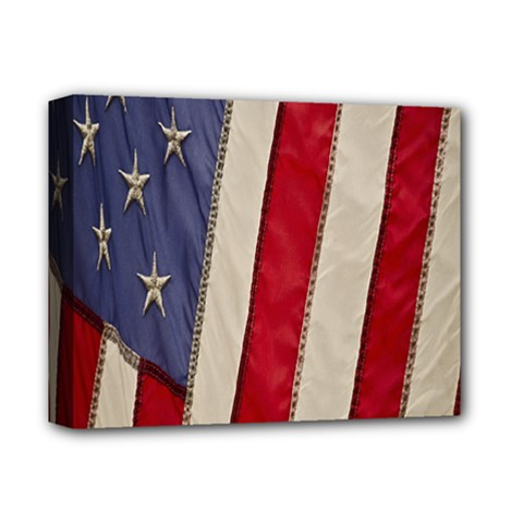 Usa Flag Deluxe Canvas 14  X 11