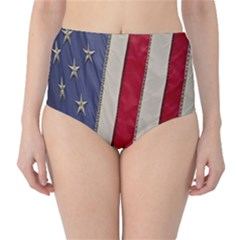 Usa Flag High Waist Bikini Bottoms