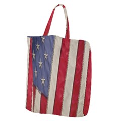 Usa Flag Giant Grocery Zipper Tote