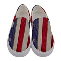 Usa Flag Women s Canvas Slip Ons