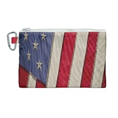 Usa Flag Canvas Cosmetic Bag (large) by Sapixe