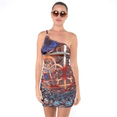 Complexity Chaos Structure One Soulder Bodycon Dress