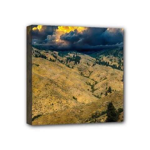 Hills Countryside Landscape Nature Mini Canvas 4  X 4  by Sapixe