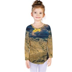 Hills Countryside Landscape Nature Kids  Long Sleeve Tee by Sapixe