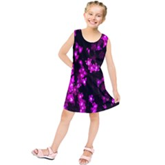 Abstract Background Purple Bright Kids  Tunic Dress