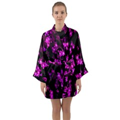 Abstract Background Purple Bright Long Sleeve Kimono Robe