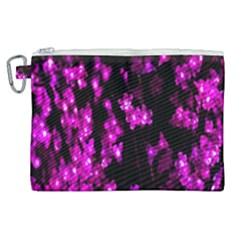 Abstract Background Purple Bright Canvas Cosmetic Bag (xl)