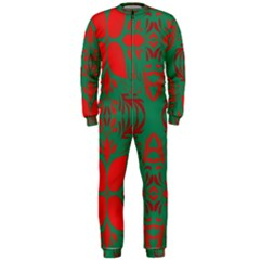 Christmas Background Onepiece Jumpsuit (men)
