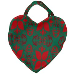 Christmas Background Giant Heart Shaped Tote