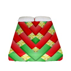Christmas Geometric 3d Design Fitted Sheet (full/ Double Size) by Sapixe