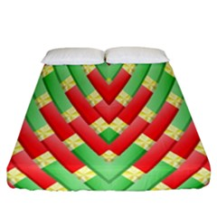 Christmas Geometric 3d Design Fitted Sheet (california King Size) by Sapixe