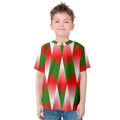 Christmas Geometric Background Kids  Cotton Tee
