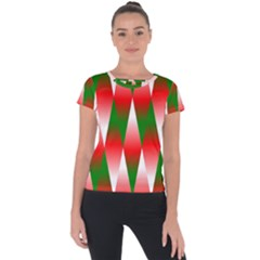 Christmas Geometric Background Short Sleeve Sports Top