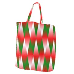 Christmas Geometric Background Giant Grocery Zipper Tote