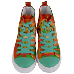 Christmas Design Seamless Pattern Women s Mid Top Canvas Sneakers