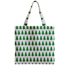 Christmas Background Christmas Tree Zipper Grocery Tote Bag