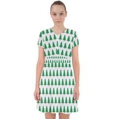 Christmas Background Christmas Tree Adorable In Chiffon Dress