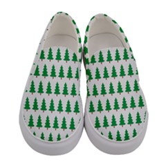 Christmas Background Christmas Tree Women s Canvas Slip Ons