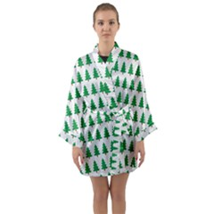Christmas Background Christmas Tree Long Sleeve Kimono Robe