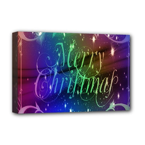 Christmas Greeting Card Frame Deluxe Canvas 18  X 12   by Sapixe