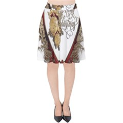 Christmas Décor Decoration Winter Velvet High Waist Skirt