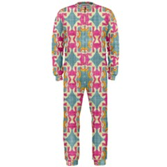 Christmas Holidays Seamless Pattern Onepiece Jumpsuit (men)