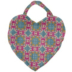 Christmas Holidays Seamless Pattern Giant Heart Shaped Tote by Sapixe