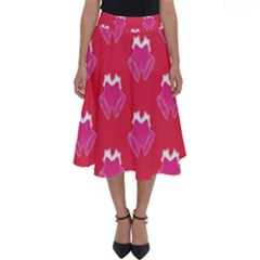 Christmas Red Pattern Reasons Perfect Length Midi Skirt