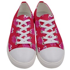 Christmas Red Pattern Reasons Women s Low Top Canvas Sneakers