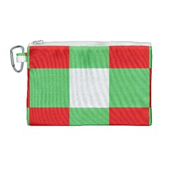 Fabric Christmas Colors Bright Canvas Cosmetic Bag (large)