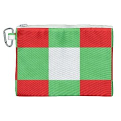 Fabric Christmas Colors Bright Canvas Cosmetic Bag (xl)