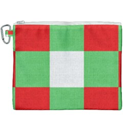 Fabric Christmas Colors Bright Canvas Cosmetic Bag (xxxl) by Sapixe