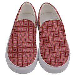 Christmas Paper Wrapping Paper Men s Canvas Slip Ons