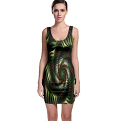 Fractal Christmas Colors Christmas Bodycon Dress by Sapixe