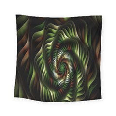 Fractal Christmas Colors Christmas Square Tapestry (small) by Sapixe