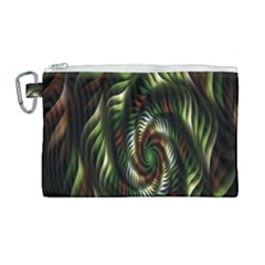 Fractal Christmas Colors Christmas Canvas Cosmetic Bag (large)