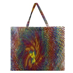 Fire New Year S Eve Spark Sparkler Zipper Large Tote Bag