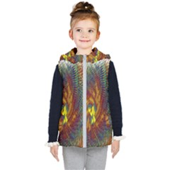 Fire New Year S Eve Spark Sparkler Kid s Hooded Puffer Vest
