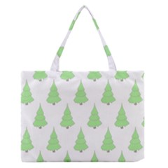 Background Christmas Christmas Tree Zipper Medium Tote Bag by Sapixe