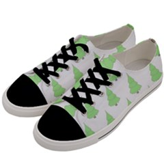 Background Christmas Christmas Tree Men s Low Top Canvas Sneakers by Sapixe