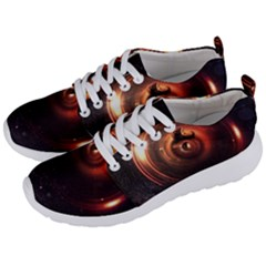 Steampunk Airship Sailing The Stars Of Deep Space Men s Lightweight Sports Shoes by jayaprime