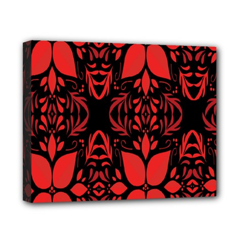 Christmas Red And Black Background Canvas 10  X 8  by Sapixe